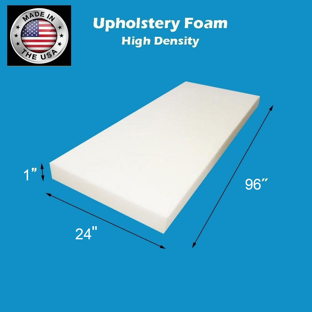 FoamTouch Upholstery Foam Cushion High Density 5 Height x 24 Width x 84 Length Made in USA